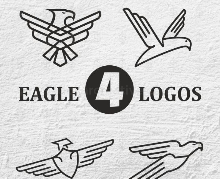 04 unique and modern representation of eagle logos
