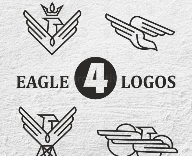 04 UNIQUE AND LUXURY EAGLE LOGO DESIGN.