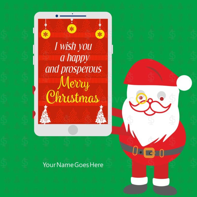 05 UNIQUE MERRY CHRISTMAS GREETING TEMPLATES ~ 1dollarcreative.com
